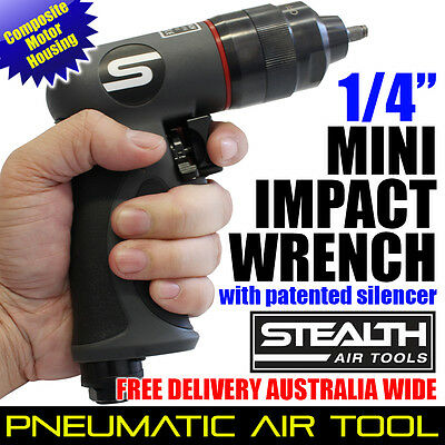 """STEALTH 1/4"""" Composite Mini Impact Wrench PIA 253P-40 Pneumatic Ratchet Air Tool"""