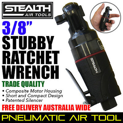 """STEALTH 3/8"""" Composite Stubby Ratchet Wrench Tools PIA 015-33 Air Tool for Sale"""
