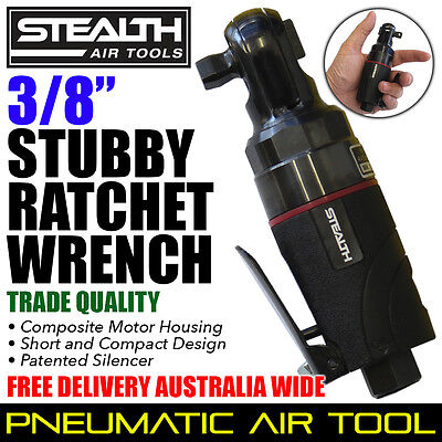 STEALTH 3/8 inch Composite Stubby Ratchet Wrench Mechanic Air Tools PIA 015-33