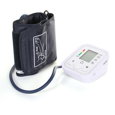 Automatic Digital Upper Arm Blood Pressure Monitor Heart Beat Pulse Rate Meter