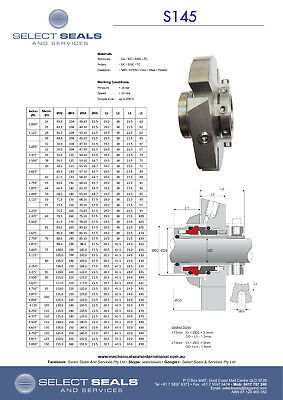 "Single Cartridge Mechanical Seal - 2"" Shaft Size - Silicon vs Silicon Carbide"