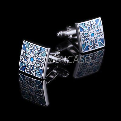 Mencaso Mens French Shirt CUFF LINKS Square Wedding Party Business Cufflinks