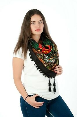 Lovely colourful Russian fashion Slavonic style shawl scarf autumn collection-2
