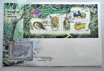 Royal Selangor - Protected Wildlife FDC (Pewter) - 1997 (Limited edition)