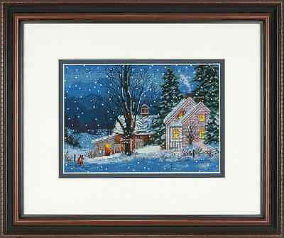"Gold Petite Quiet Night Counted Cross Stitch Kit-7""X5"" 18 Count"