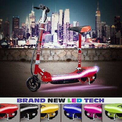 RiiRoo Kids Electric E Scooter Ride on Rechargeable Battery Led Lights 24v 120W