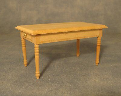 Dolls House Furniture  Kitchen pine Table  with Draw    K87