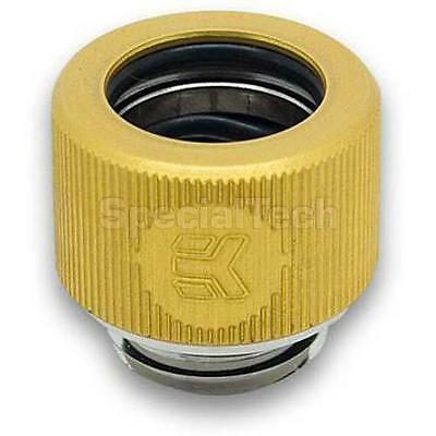EK G1/4 Male Thread HDC Fitting 12mm OD : Gold