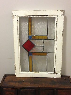 Vintage Stained Glass Window from England original leaded stain glass