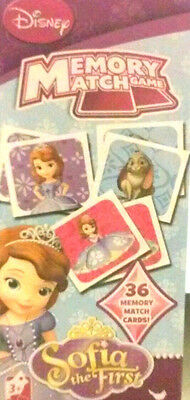 Disney's Sophia The First-Memory Match Game (36 Cards) New! Ages 3+