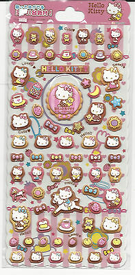 Sanrio Hello Kitty Puffy Stickers Bows and Bears