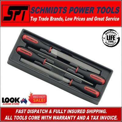 "Gearwrench 82820 8"" File Set 4 Piece Set With Pvc Tray Ergonomic Grips Brand New"