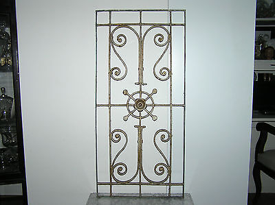 Antique Wrought Iron Wall Decoration.