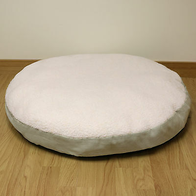 Large Circular Fleece Pet Dog Bed/Puppy/Round/Cushion/Pillow/Warm/Soft/Cosy 78cm
