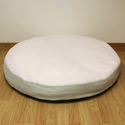 XL Extra Large Circular Fleece Pet Dog Bed/Round/Cushion/Pillow/Soft/Cosy 90cm
