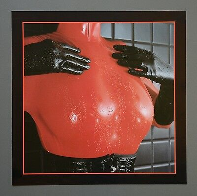O Das Fetischmagazin Photo Kunstdruck Erotic Art 35x35cm Red Latex Breasts Rot