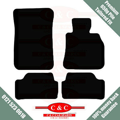 BMW 2 SERIES COUPE + VELCRO 650g HIGH PILE TAILORED PREMIUM CAR MATS IN BLACK