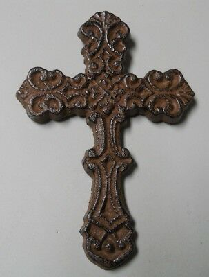 Lot of 20 CAST IRON CROSS Rustic Ranch Country Decor WESTERN CROSS BROWN