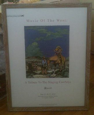 1992 GENE AUTRY MUSEUM SINGING COWBOYS MUSIC of the WEST HOLLING FRAMED ART!