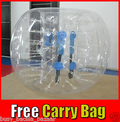 HEAVY DUTY 1.2M Bubble Soccer Bumper Ball 1.0mm PVC Inflatable 11kg Fitness