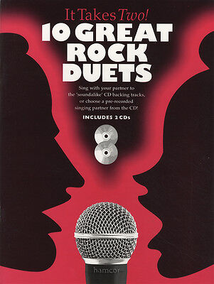 It Takes Two 10 Great Rock Duets Vocal Sheet Music Book/2CDs Singalong