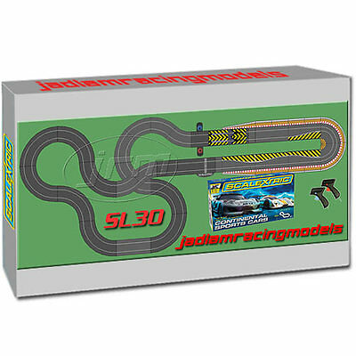 SCALEXTRIC Set SL30 JadlamRacing Layout with C1319 & 2 Cars
