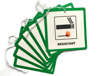 10 Fire Resistant Flame Retardant labels Swing Tags Furniture Upholstery DL7
