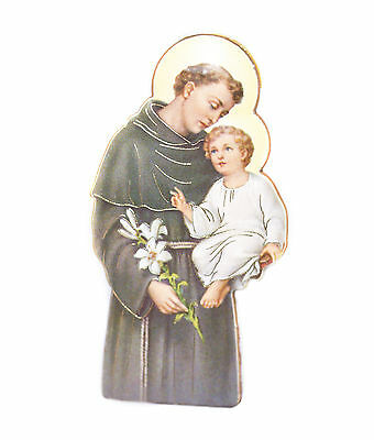 ST Saint Anthony Fridge Car Magnet Resin on Laminate Made in Italy