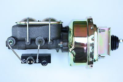 "1965-66 Ford Mustang 7"" Power Brake Booster Kit Master Cyl Combo Valve  5H3F7"