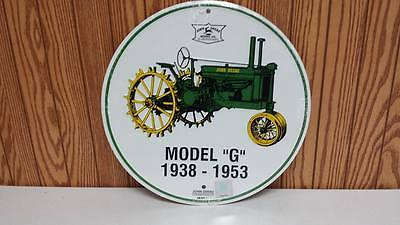 "John Deere Model ""g"" 138-1953  12"" Round Sign Limited! Rare Find! 2010 Usa"