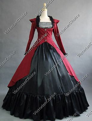Victorian Edwardian Gothic 3-PC Suit Dress Steampunk Punk Theater Clothing 167