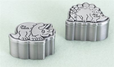 Dinosaur Pewter Tooth and Curl Box Tooth Fairy Gifts for Boys