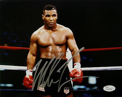 Mike Tyson Authentic Signed 8x10 Iron Mike Photo JSA Witness Autograph