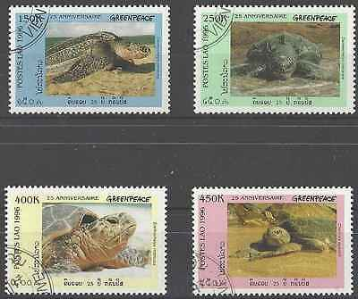 Timbres Tortues Cambodge 1244A/D o (8154)