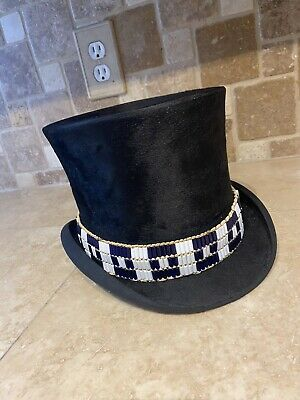 Wampum band for hat Native American made rendezvous Cherokee steampunk glass