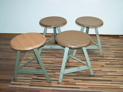 age Stool, Art Deco Workshop stools, Vintage Bauhaus Design Chair