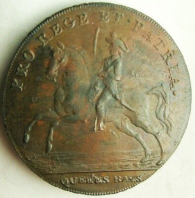 """Colonial collectible_ 1/2 Penny token_Warwickshire 60c_""""ONE CENT"""" edge"""