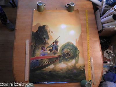 Star Wars Luke Skywalker Tatooine Fan Club poster print Hugh Fleming 1999 24x36""