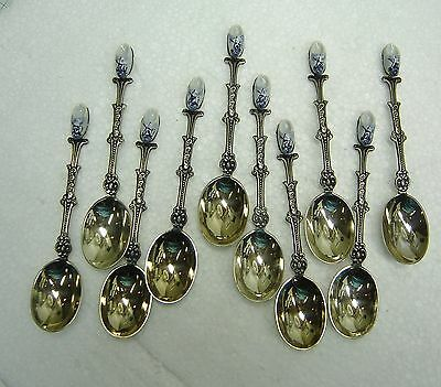 Vintage Boxed Silver Plated Delft Spoons - Holland Windmills   N381-C