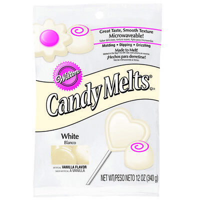 White Wilton Candy Melts 12 oz Molds Holidays Vanilla Flavor Wafers