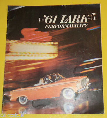 Studebaker Lark Cars 1961 Full Line Auto Sales Brochure Great Pictures Nice See