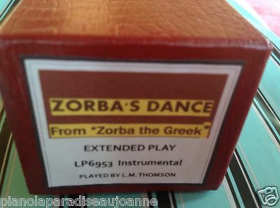 ZORBA'S DANCE Instrumental BRAND NEW LONG PLAY  PIANOLA (PLAYER PIANO)  ROLL