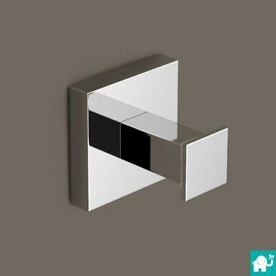 Modern Square Chrome Bathroom Accessories | Towel Ring, Robe Hook, Tumbler
