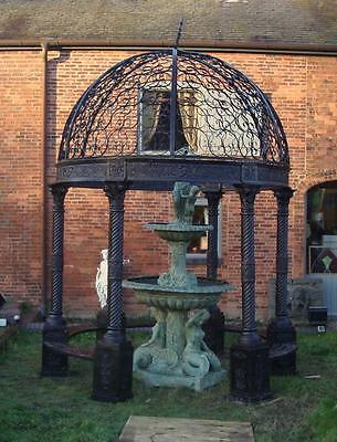Huge Cast Iron Gazebo - Architectural - Seating - 4m High x 3m Diameter