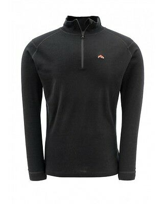 Simms DownUnder Merino Mid Zip Top ~ Black NEW ~ Closeout Size 2XL