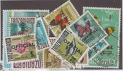 Tanzania (Officail Stamp) Used Collection Remainder 14 Stamps