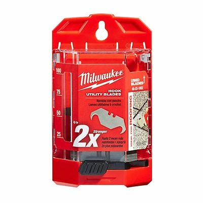 Milwaukee 50 PC Hook Utility Knife Blades w/ Dispenser 48-22-1952 New
