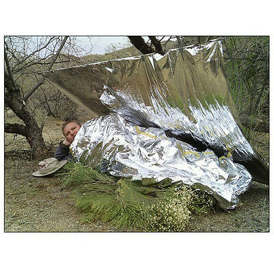 3 Silver Emergency Blankets Survival Rescue Outdoor Life-saving Blankets