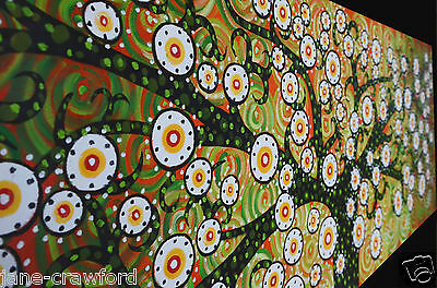 Huge Aboriginal Art Painting  modern abstract  authentic By Jane COA