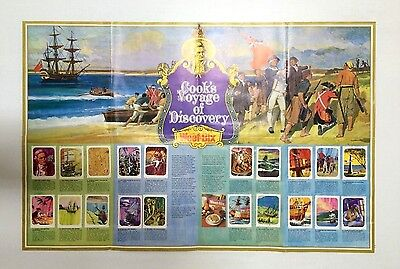 "WEET-BIX ""THE WORLD OF THE ABORIGINIES"" POSTER WITH FULL SET OF CARDS 1970's"